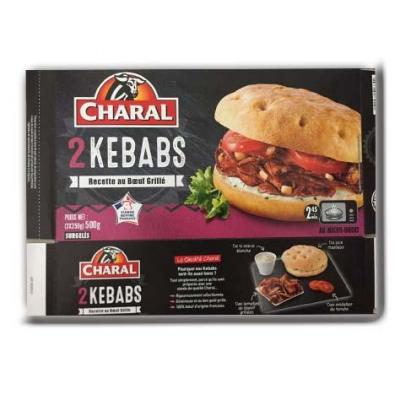 2 kebabs surgeles charal 500 g