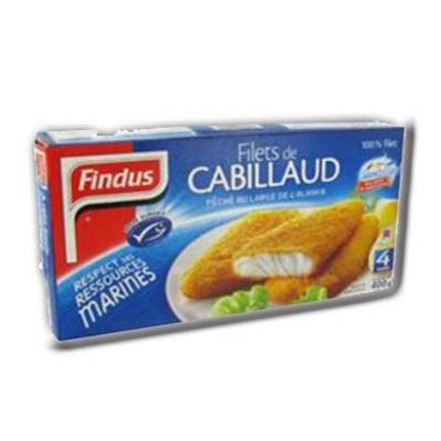 4 tranches panees de cabillaud findus 204 g