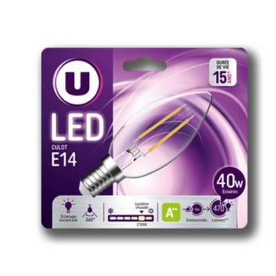 Ampoule led deco flamme u 40w e14