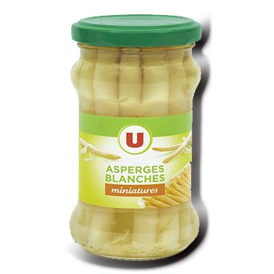 Asperges blanches pelees miniatures u 110 g