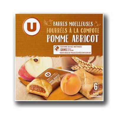 Barres compotes pomme abricot u 125 g