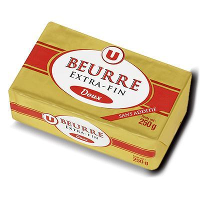 Beurre doux extra fin 82 mg u 250 g