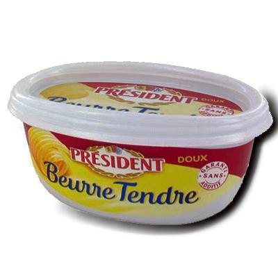 Beurre tendre doux president 250 g