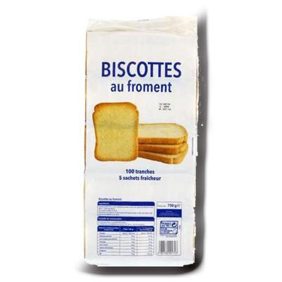 Biscottes au froment 100 tranches 750g