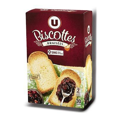 Biscottes braisees u 30 tranches 247 g
