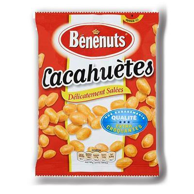 Cacahuetes delicatement salees extra croquantes benenuts 220 g
