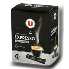 Cafe soluble espresso u 25 x 1 8 g 45 g