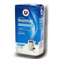 Cafe tradition moulu decafeine u 250 g