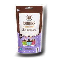 Chunks 3 chocolats u 100g