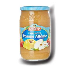 Compote de pomme allegee andros 730 g