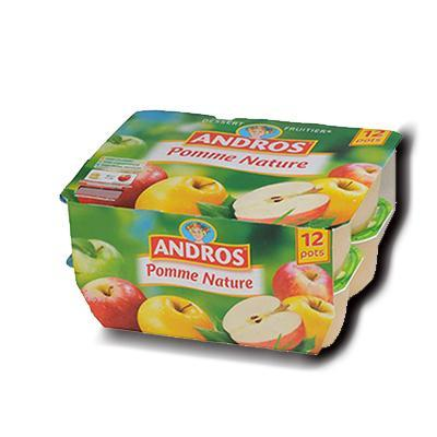 Compote pomme nature andros