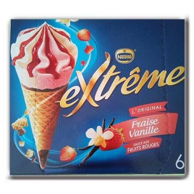 Cone fraise vanille extre x6 426