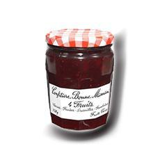 Confiture 4 fruits bonne maman bocal de 320g andros