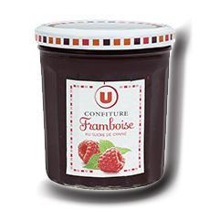 Confiture de framboises 50 de fruits u 370 g
