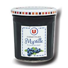 Confiture de myrtilles 50 de fruits u 370 g