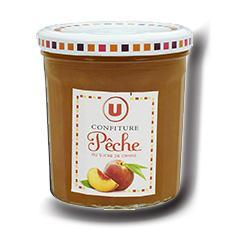 Confiture de peche 50 de fruits u 370 g