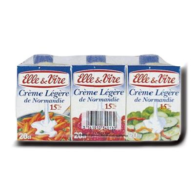 Creme elle vire legere onctueuse 12 mg 3x20cl