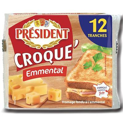 Croque emmental president 200 g 12 tranches