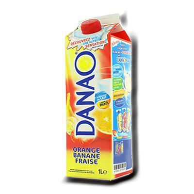 Danao orange banane fraise 1 l