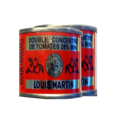 Double concentre de tomates 28 mini louis martin