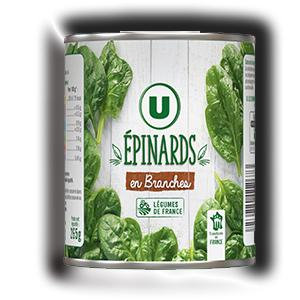 Epinards en branches u 265 g
