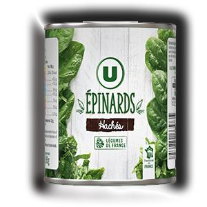 Epinards haches u 395 g
