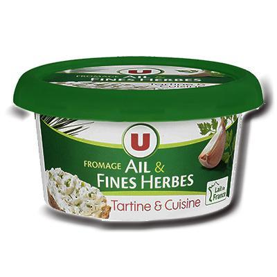 Fromage pasteurise a tartiner ail et fines herbes 24 de mg u 150 g