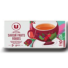 Infusions fruits rouges u 25 sachets 40 g