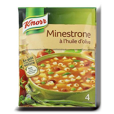 Knorr soupe minestrone a l huile d olive 104g 4 portions