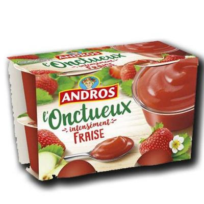L onctueux intensement fraise andros 4x97g