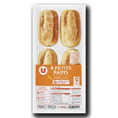 Mini pains precuits u 4 pieces 300 g