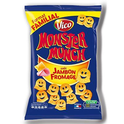 Monster munch gout jambon fromage 135g vico