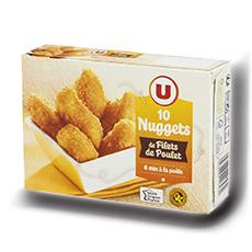 Nuggets de filet de poulet u 10 pieces 200 g 1