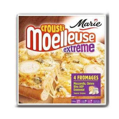Pizza croustimoelleuse extreme 4 fromages marie 510 g