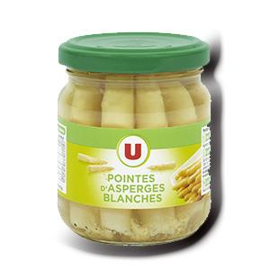 Pointes d asperges blanches u 110 g