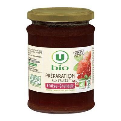 Preparation aux fruits fraise et grenade u bio 240 g