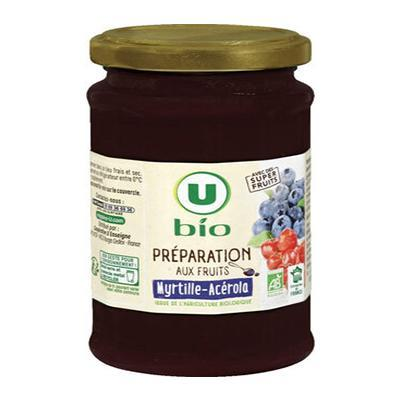 Preparation aux fruits myrtille et acerola u bio 240 g