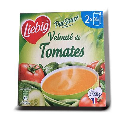 Pur soupe veloute tomates liebig 2x30cl