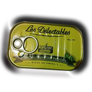Sardines a l huile d olive vierge extra les delectables 125 g