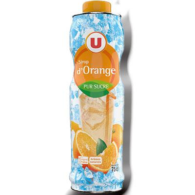 Sirop orange u bidon 75cl