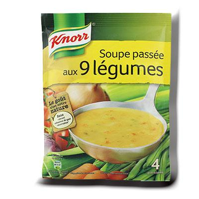 Soupe deshydratee knorr passee aux 9 legumes 105g 4 portions