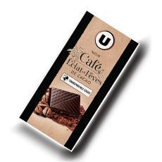 Tablette de chocolat noir cafe degustation u 100 g