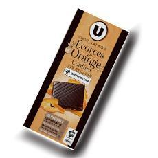 Tablette de chocolat noir degustation 72 d ecorces d orange u 100 g